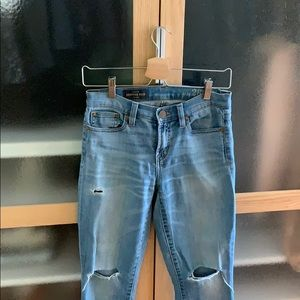J. Crew Cropped Reid Distressed Jeans